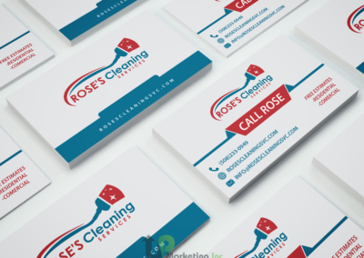 Rose's Cleaning Business Cards